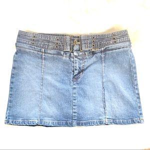 Blue Asphalt Juniors Denim Mini Blue Jean Skirt 3